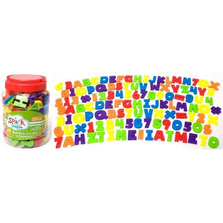 Magnetic Letters Numbers by 120 Magnetic Letters And Numbers Set Walmart