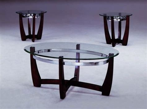 Modern Glass And Wood Coffee Table Modern Chrome Glass Wood 3pc Coffee Table Set Houston Only Ebay