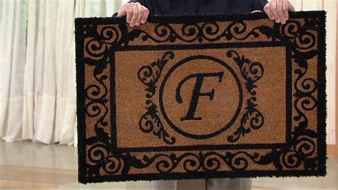 Doormat With Initial by 2 X 3 Outdoor Monogram Initial Coir Doormat On Qvc