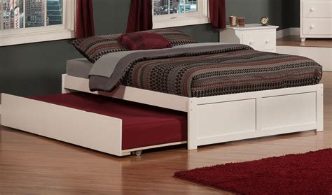 bed trundle atlantic furniture urban lifestyle concord bed with