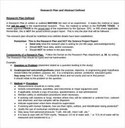 research template sle research plan 6 documents in word pdf