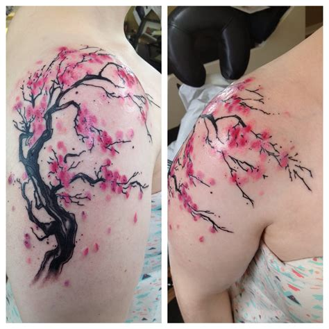 cherry blossom shoulder tattoo 20 cherry blossom images and pictures