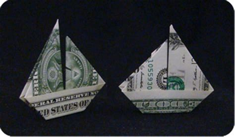 Dollar Bill Origami Boat - money sailboat make origami