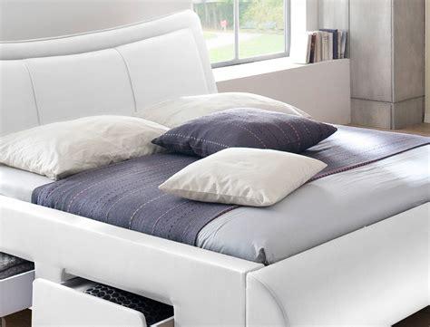 günstige schlafzimmer komplett mit lattenrost und matratze polsterbett lando bett 180x200 cm wei 223 mit lattenrost und