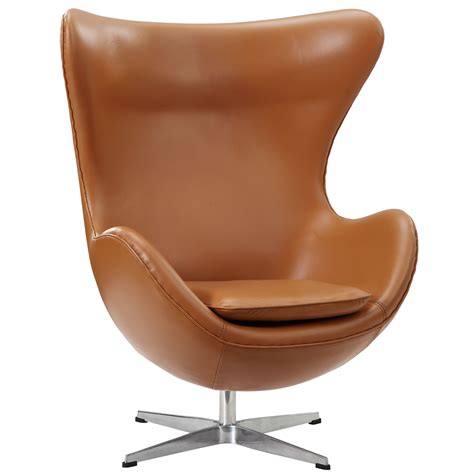 leather egg chair arne jacobson style egg chair leather