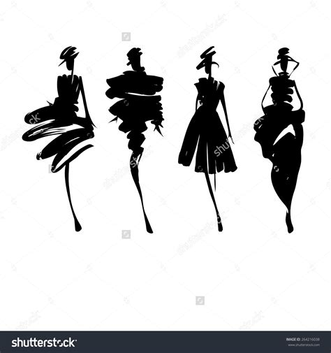 fashion illustration silhouettes fashion model silhouette clip 66