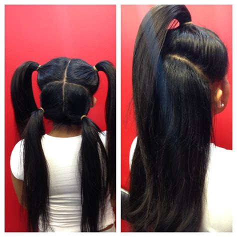 hair do with sew in weave with a part in the middle vixen sew in on pinterest hair weaves quick weave and