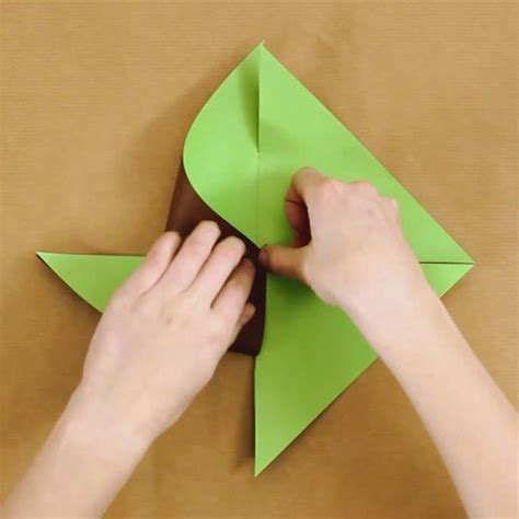 Pinwheel Paper Craft - crafts and activities two colored paper pinwheel
