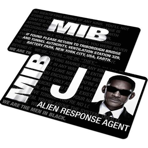 custom id card mib agent badge from men in black