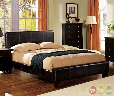 contemporary platform bedroom sets uptown contemporary espresso platform bedroom set with
