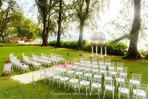 Garden ceremony at Lone Pine Hotel, Penang. Malaysia