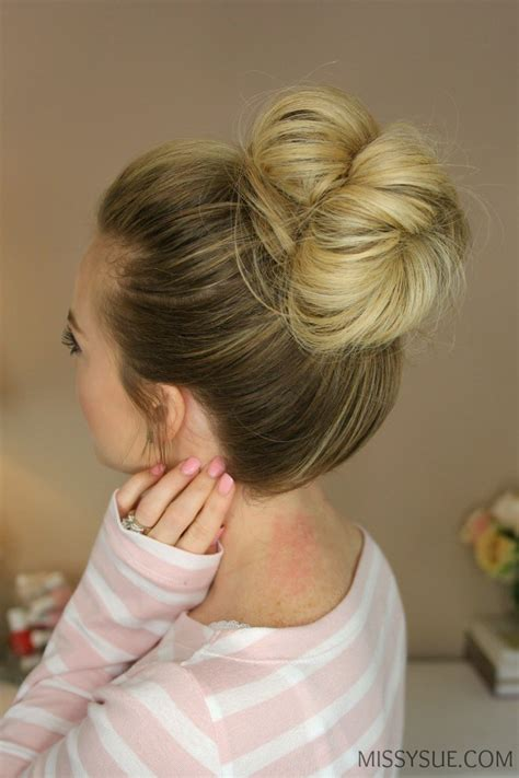 hairstyles for bed wiki how messy bun maken