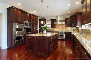 Cherry Kitchen Ideas by Pictures Of Kitchens Traditional Dark Wood Kitchens