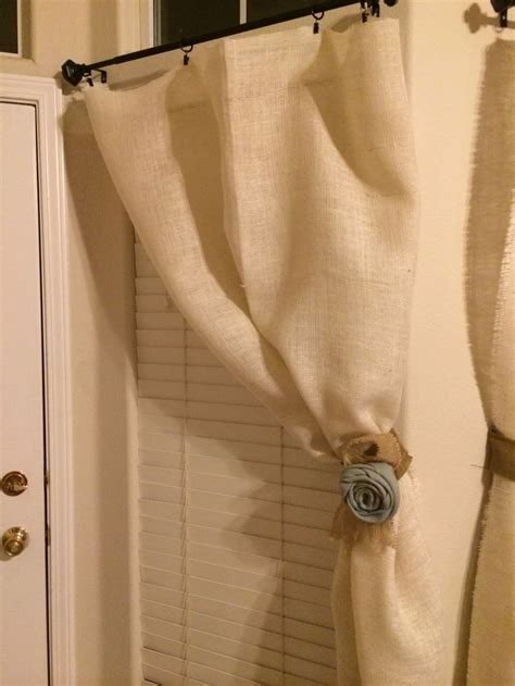 how to sew burlap curtains no sew burlap curtains diy pinterest