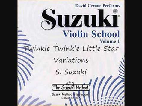 Suzuki Twinkle Variations Twinkle Twinkle Variations S Suzuki Suzuki