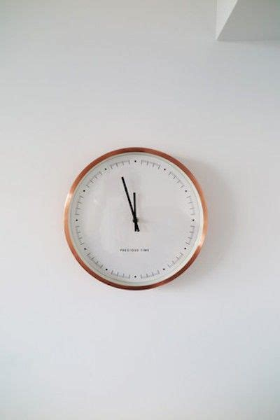 simple clock the copper aurelia clock is simple but stylish the
