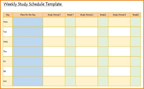 Study Planner Template Cortezcolorado Net Study Templates Free