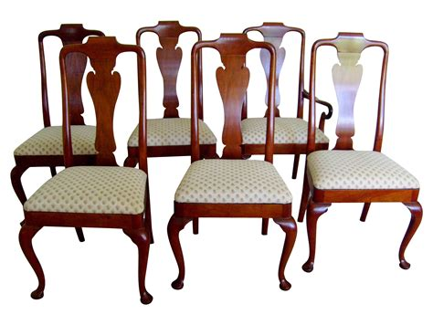 queen anne dining room chairs queen anne style dining chairs by baker set of 6 chairish