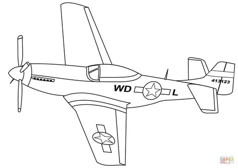 P 51 Mustang Coloring Pages p 51 mustang coloring page free printable coloring pages