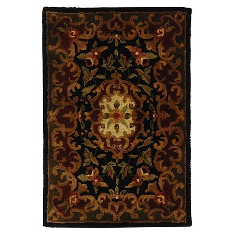 black and green area rugs safavieh classic black green 2 ft x 3 ft area rug cl234d 2 the home depot