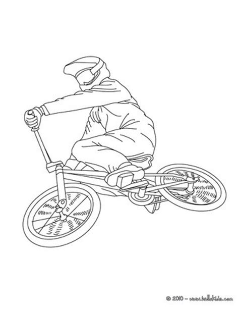 bmx biker side view coloring pages hellokids com
