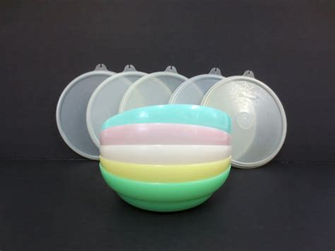 Rumauma Pink Bowl With Lid Japanese Design Mangkok Tutup tupperware sheer pastel cereal bowls 155 set of 5 with 5 lids