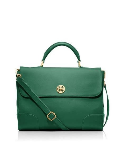 Tpry Burch 1856 this emerald green bag by burch is for fall accessories to