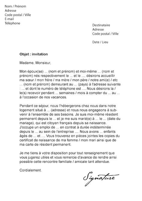 modele lettre invitation