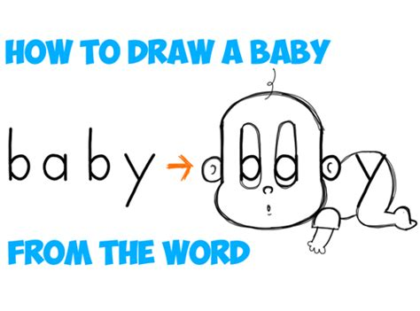 how to draw doodle words drawing babies toddlers archives how to draw step by