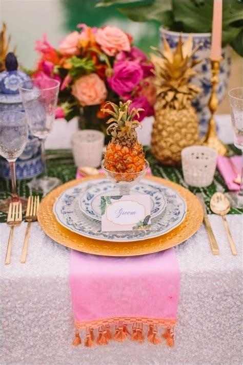 pineapple wedding decor ideas deer pearl flowers