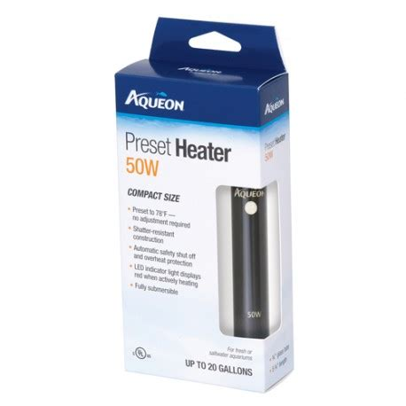 Heater Aquarium 50 Watt aqueon preset heater 50 watt