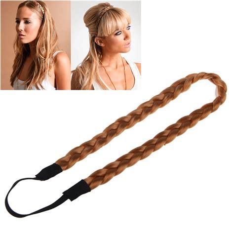 hair plats for women ladies girls braided synthetic hair plaited plait elastic