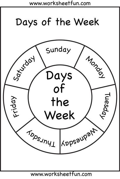 printable worksheets days of the week 90 best images about days of the week on pinterest