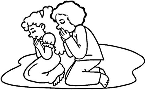 Children Praying Coloring Page Supercoloring Com Praying Child Coloring Page