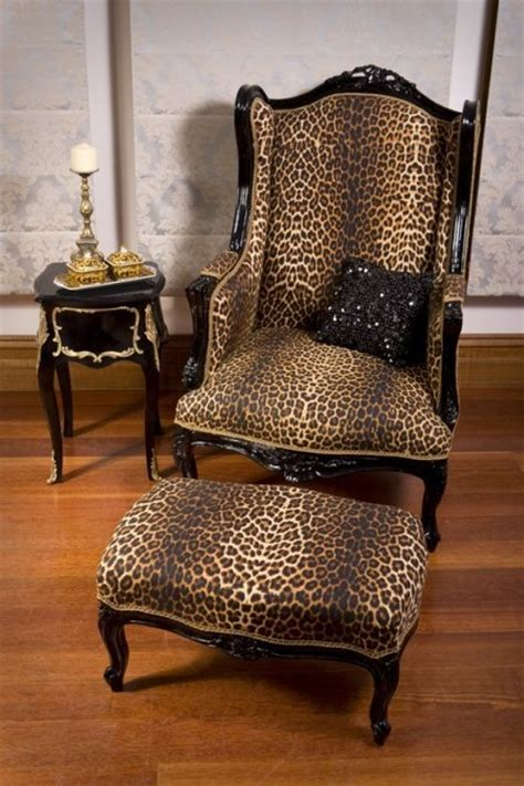 leopard print chair and ottoman leopard wingback and ottoman african home decor