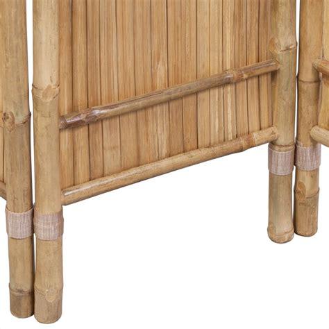 bamboo room 3 panel bamboo room divider vidaxl co uk