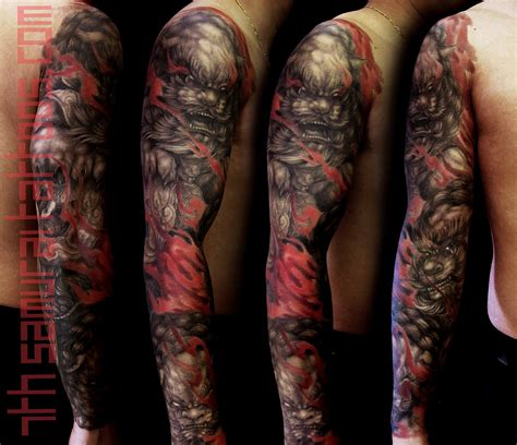 samurai tattoo sleeve sleeves 7th samurai tattoos