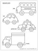 Printable Car Template by Cars And Vehicles Printable Templates Coloring Pages