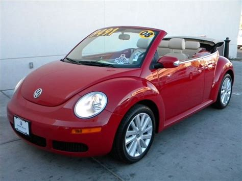 volkswagen beetle red convertible 2008 volkswagen new beetle convertible se volkswagen colors