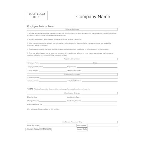 Employee Referral Form Referral Page Template