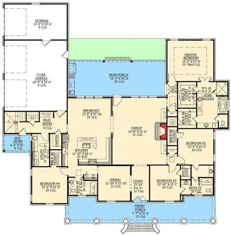 plan 59527nd lovely design with safe room bonus rooms plan 56337sm graceful 4 bedroom acadian home plan