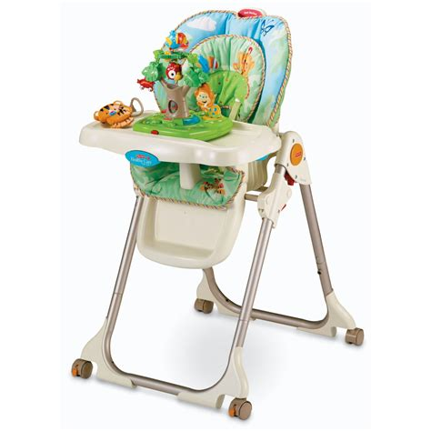 fisher price swing high chair fisher price rainforest deluxe high chair dealshout