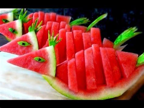 Decorative Watermelon Cutting by How To Make Watermelon Birds Watermelon Fruit