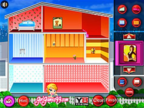 play doll house decoration game    pogcom