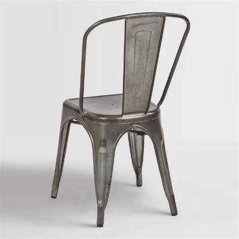 galvanized metal ira dining chairs set of 2 world market