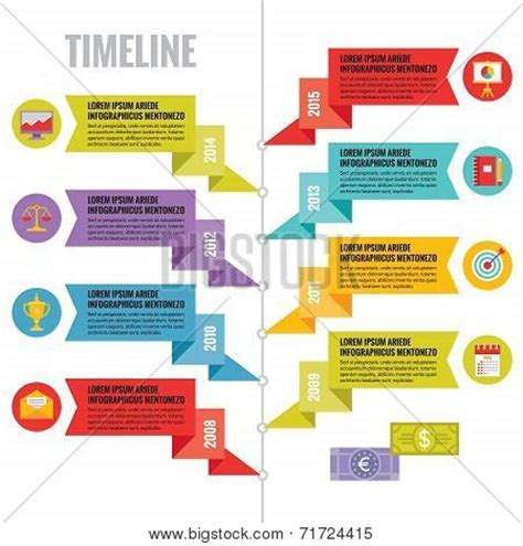 Infographic Vector Concept In Flat Design Style Timeline Timeline Poster Template