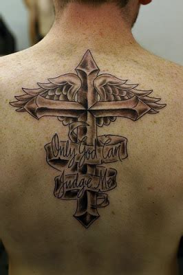 cross with eagle wings tattoo zimbio cross tattoos with wings for