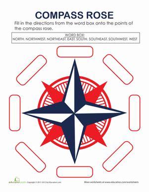 compass worksheet grade compass worksheet education