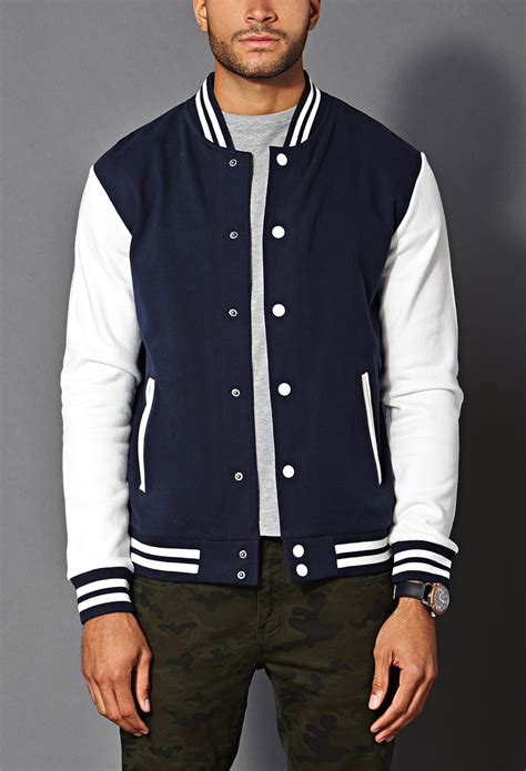 7 Of The Best Varsity Inspired Garments by Lyst Forever 21 Classic Varsity Jacket In Blue For