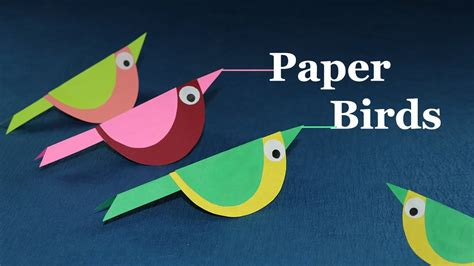 How To Make Animals Out Of Construction Paper - paper crafts for how to make paper bird easy